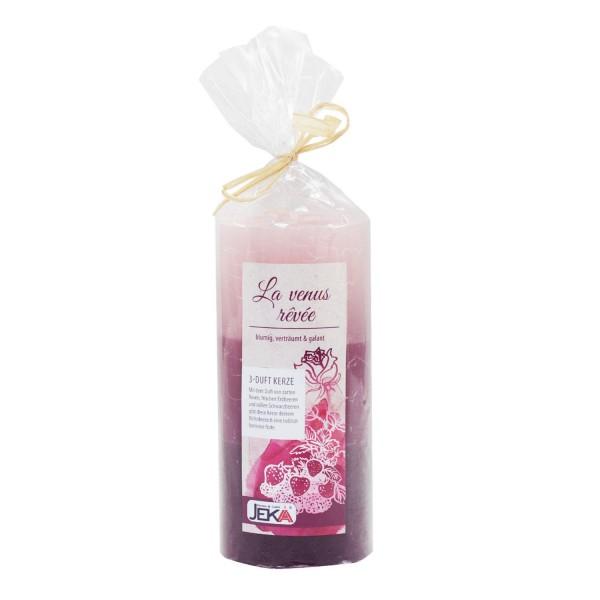 """Stumpenkerze 70/150 - Duftkerze - 3-Duft RUSTIK """"Rose-Erdbeere-Schwarzbeere"""""""