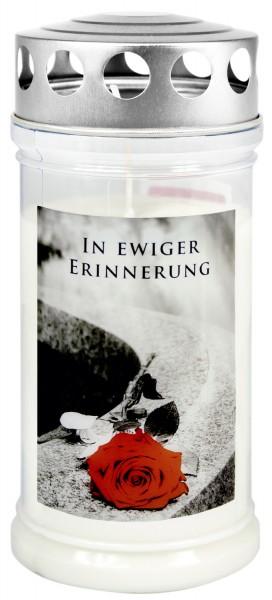 """Grabkerze - Gedenkkerze Motiv """"In ewiger Erinnerung"""""""