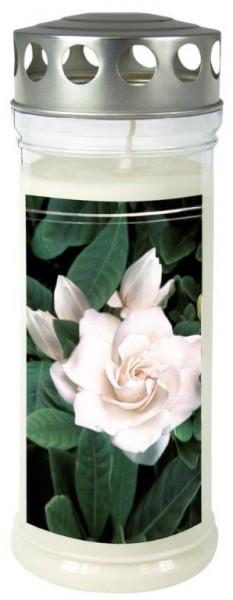 """Grabkerze - Gedenkkerze Motiv """"Gardenia"""""""