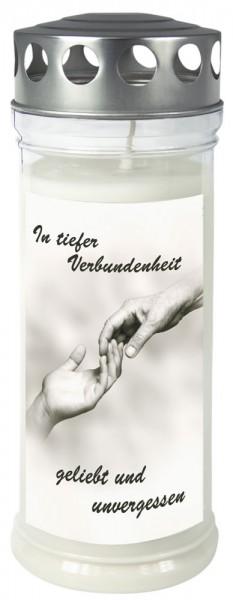 """Grabkerze - Gedenkkerze Motiv """"Hände"""""""