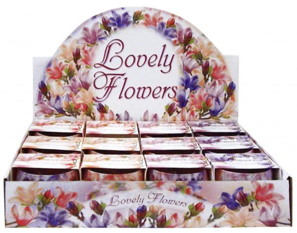 "Duftglas mit Motiv ""Lovely Flowers"" Duft Magnolia"