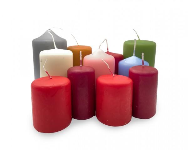 Kilobeutel, verschiedene Kerzen