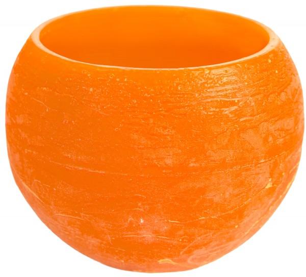 Teelichthalter Wachslampion Rund -orange-