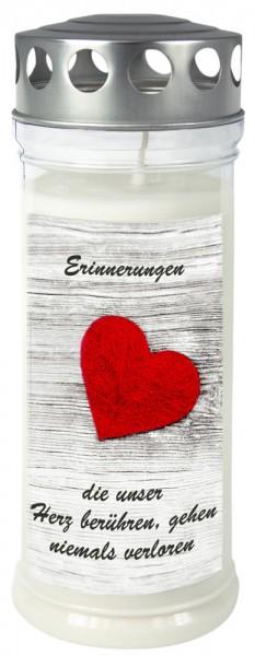 "Grabkerze - Gedenkkerze Motiv ""Herz"""